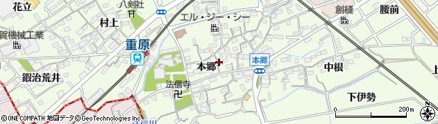 愛知県知立市上重原町(本郷)周辺の地図