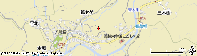 愛知県岡崎市米河内町周辺の地図