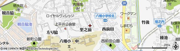 愛知県知多市八幡(里之前)周辺の地図