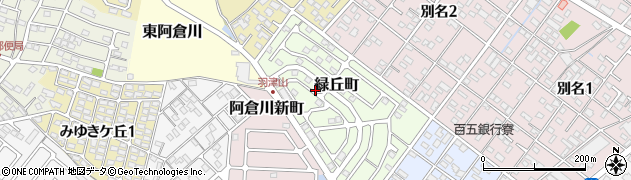 三重県四日市市緑丘町周辺の地図