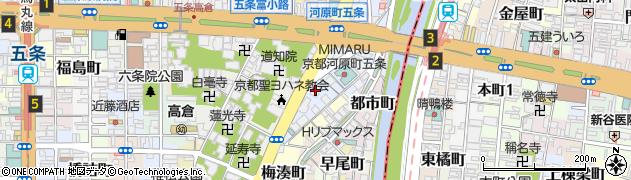 竹林院周辺の地図
