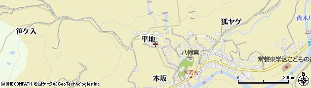 愛知県岡崎市米河内町(平地)周辺の地図