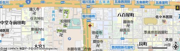 京都府京都市下京区佐女牛井町周辺の地図