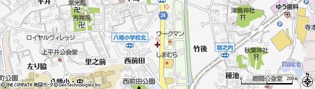 愛知県知多市八幡(前田)周辺の地図