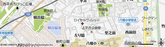 愛知県知多市八幡(左り脇)周辺の地図