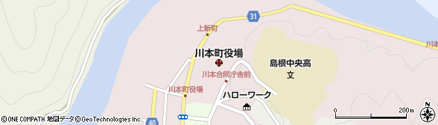 島根県川本町(邑智郡)周辺の地図