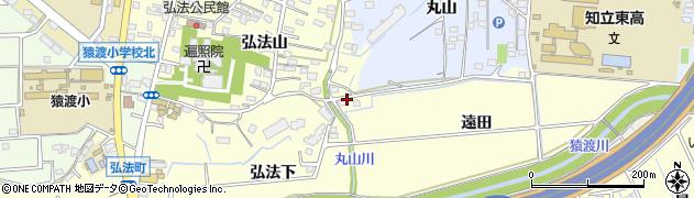 愛知県知立市弘法町(遠田)周辺の地図