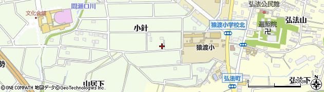 愛知県知立市上重原町(小針)周辺の地図