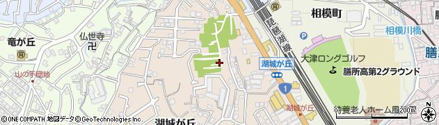 滋賀県大津市湖城が丘周辺の地図