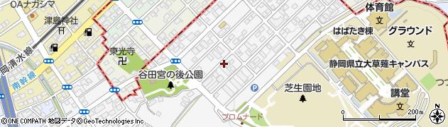 静岡県静岡市駿河区谷田周辺の地図