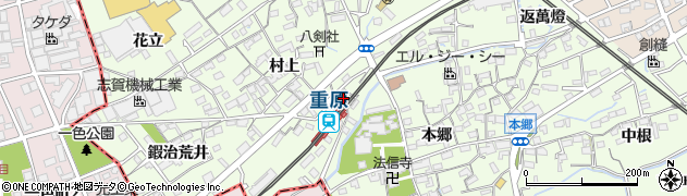 愛知県知立市周辺の地図