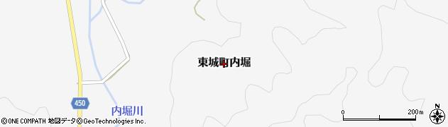 広島県庄原市東城町内堀周辺の地図