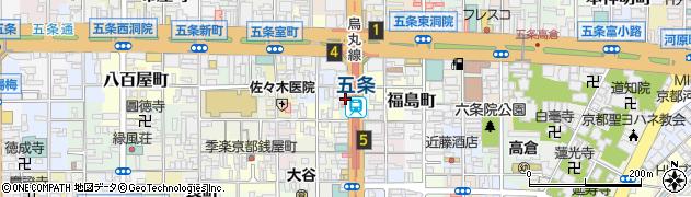 京都府京都市下京区大坂町周辺の地図