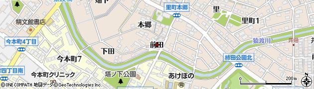 愛知県安城市里町(前田)周辺の地図