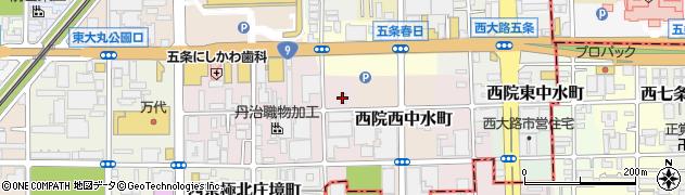 京都府京都市右京区西院溝崎町周辺の地図