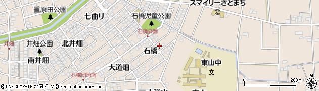 愛知県安城市里町(石橋)周辺の地図