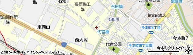 愛知県安城市今本町(西ノ山)周辺の地図