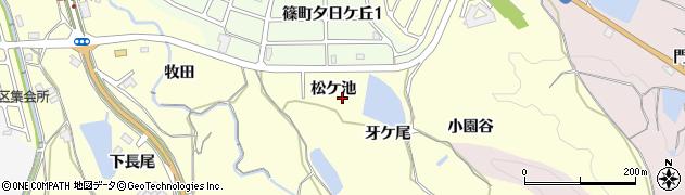 京都府亀岡市篠町篠(松ケ池)周辺の地図
