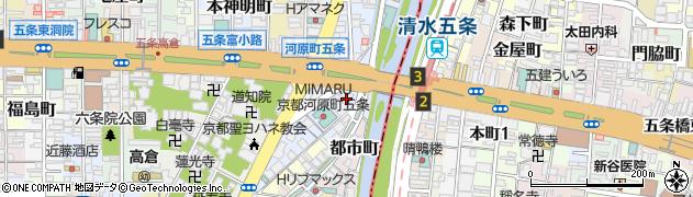 京都府京都市下京区南橋詰町周辺の地図