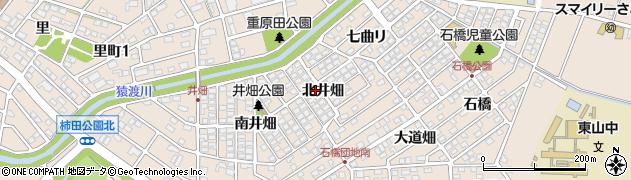 愛知県安城市里町(北井畑)周辺の地図