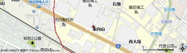 愛知県安城市今本町(東向山)周辺の地図
