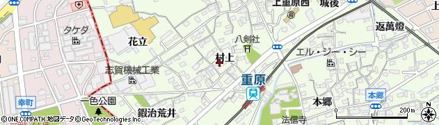 愛知県知立市上重原町(村上)周辺の地図