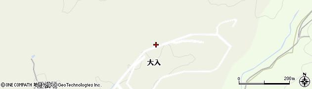 愛知県岡崎市東阿知和町(大入)周辺の地図
