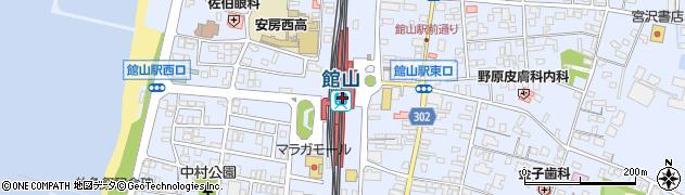 千葉県館山市周辺の地図