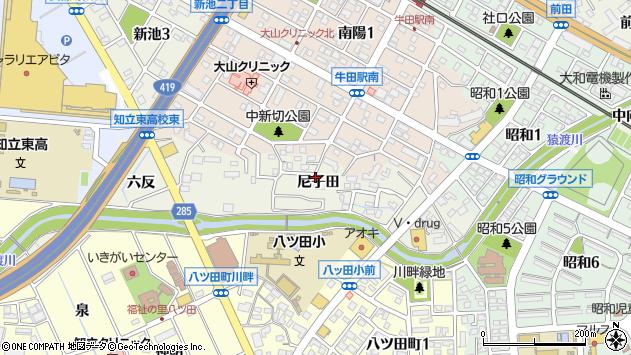 〒472-0007 愛知県知立市牛田町の地図