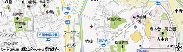 愛知県知多市八幡(竹後)周辺の地図