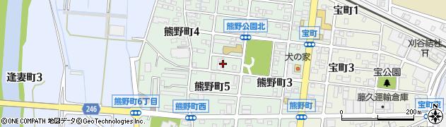 愛知県刈谷市熊野町周辺の地図