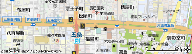 京都府京都市下京区下万寿寺町周辺の地図