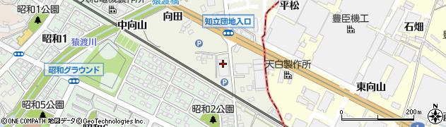 愛知県知立市牛田町(東向山)周辺の地図