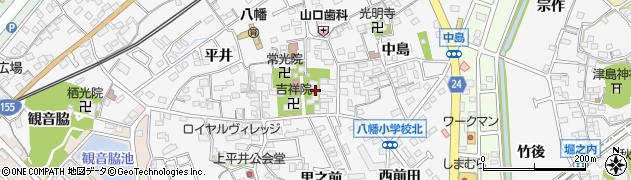 大乗院周辺の地図