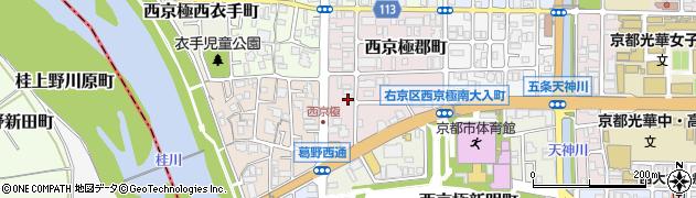 京都府京都市右京区西京極郡町周辺の地図