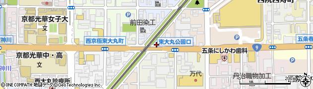 京都府京都市右京区西院久保田町周辺の地図