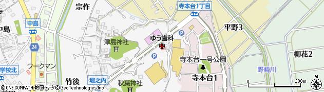 愛知県知多市八幡(筒岡)周辺の地図