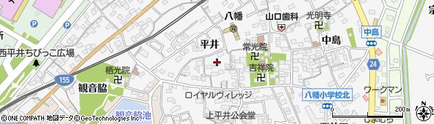 愛知県知多市八幡(平井)周辺の地図