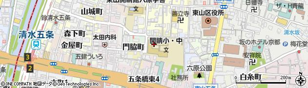 京都府京都市東山区多門町周辺の地図