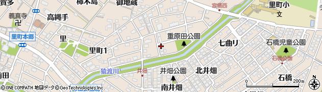 愛知県安城市里町(重原田)周辺の地図
