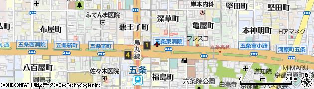 京都府京都市下京区松屋町周辺の地図