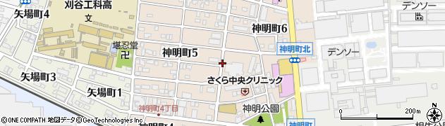 愛知県刈谷市神明町周辺の地図