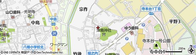 愛知県知多市八幡(堀之内)周辺の地図