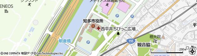 愛知県知多市周辺の地図