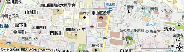 京都府京都市東山区興善町周辺の地図