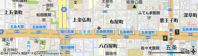 長覚寺周辺の地図