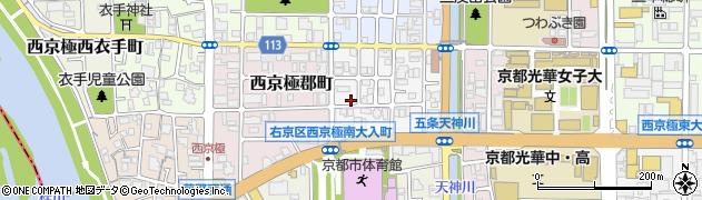 京都府京都市右京区西京極南大入町周辺の地図