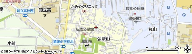 愛知県知立市弘法町周辺の地図