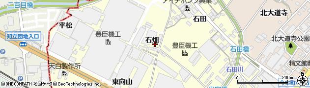 愛知県安城市今本町(石畑)周辺の地図