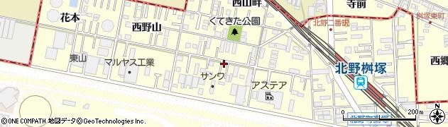 愛知県岡崎市北野町(畔北)周辺の地図